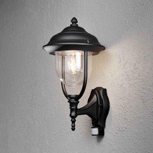 Parma Up PIR Matt Black Aluminium Wall Light