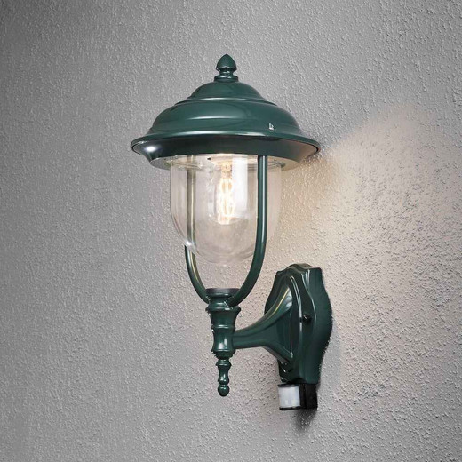 Parma Up PIR Green Aluminium Wall Light