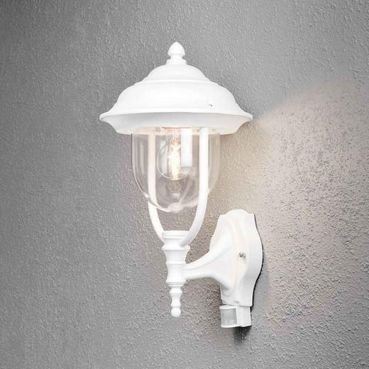 Parma Up PIR Matt White Aluminium Wall Light