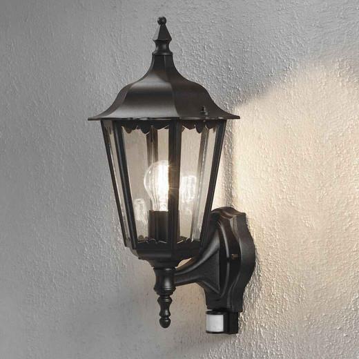 Firenze Up PIR Matt Black Aluminium Wall Light