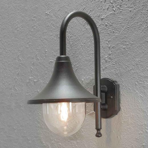 Bari Down Matt Black Aluminium Wall Light