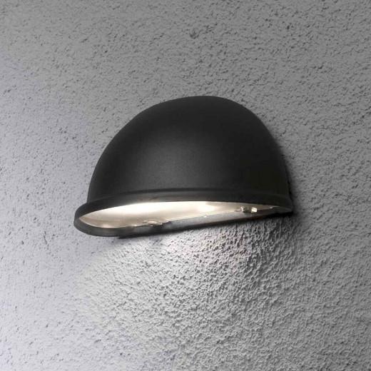 Torino Matt Black Aluminium with Clear Glass Wall Light