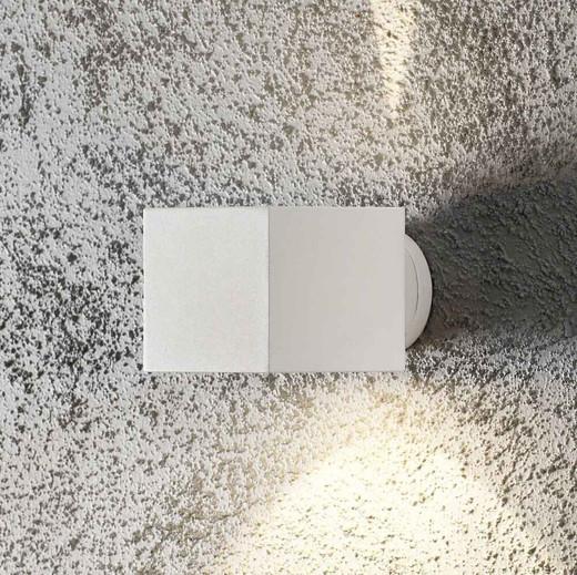 Modena White Square Aluminium Wall Light
