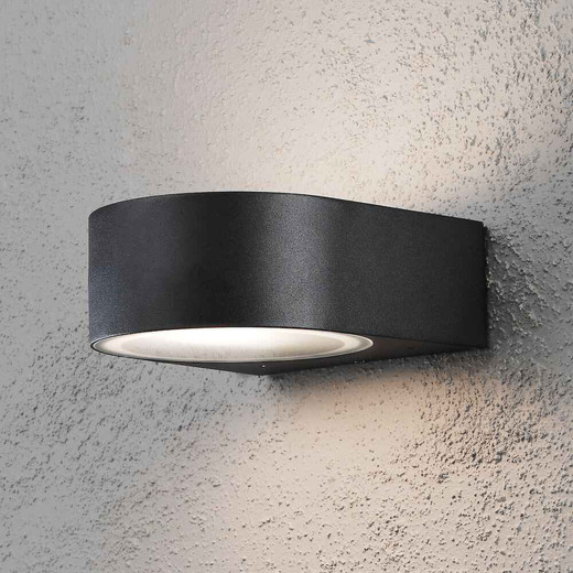 Teramo Black Aluminium Outdoor Wall Light