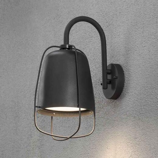 Perugia Black Aluminium Outdoor Wall Light