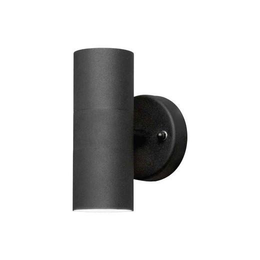 Modena Up + Down Black Aluminium Wall Light