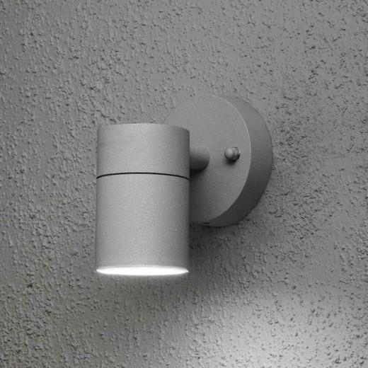 Modena Down Grey Aluminium Wall Light