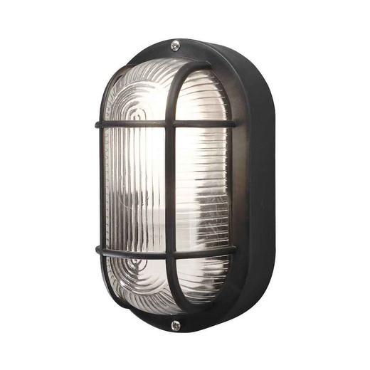 Elmas Black Plastic IP44 Wall Light