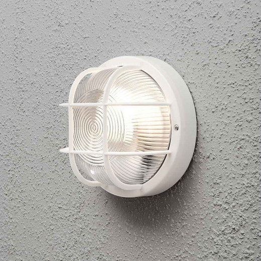 Mantova White Plastic IP44 Wall Light