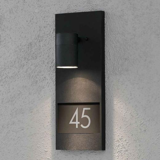 Modena House No. Black Aluminium Wall Light