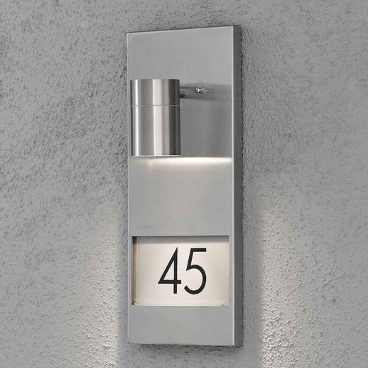 Modena House No. Stainless Steel Wall Light