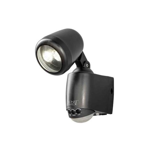 Prato Black Plastic Adjustable Battery Operated LED Wall Light