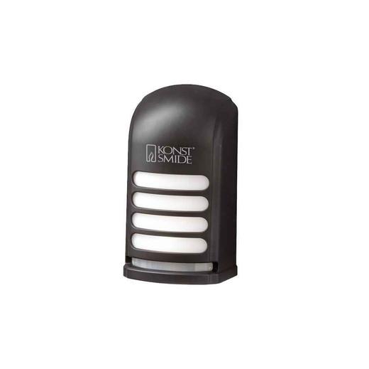 Prato Deck Black Plastic Battery Operated LED Wall Light