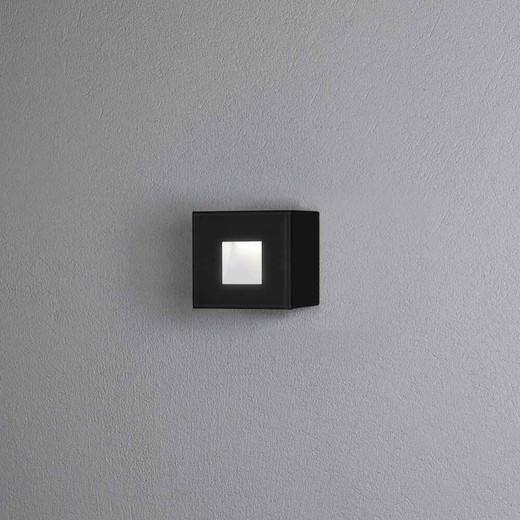 Chieri Black Small Square Aluminium LED Wall Light