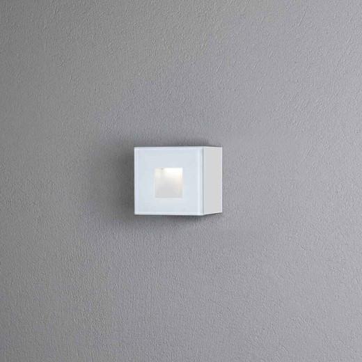 Chieri White Small Square Aluminium LED Wall Light