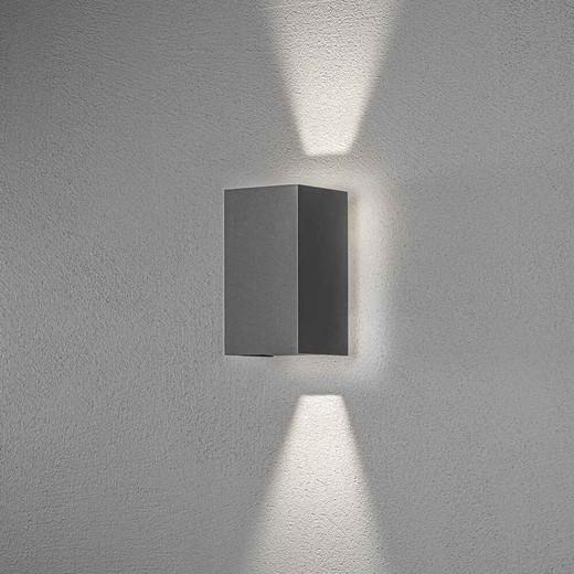 Cremona Dark Grey Up/Down Aluminium Adjustable LED Wall Light