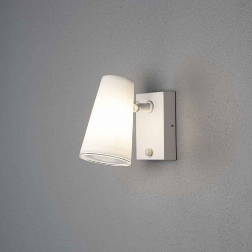 Fano White Plastic/Metal Adjustable with PIR Wall Light