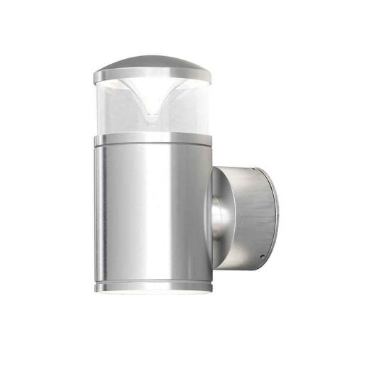 Monza Anodised Aluminium Single Reflector Double Wall Light