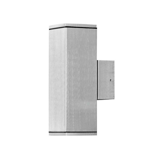 Monza Anodised Aluminium Double Square Wall Light