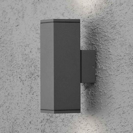 Monza Anthracite Grey Aluminium Double Square Wall Light