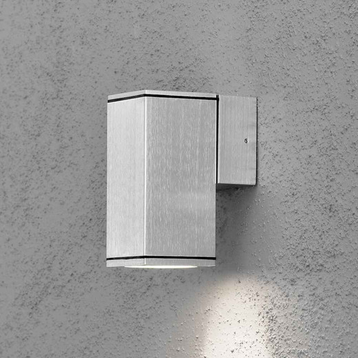 Monza Anthracite Grey Aluminium Single Square Wall Light