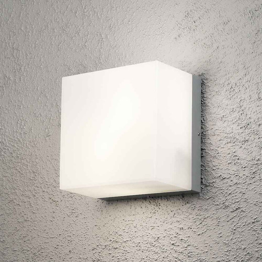 Sanremo 2 Light Grey Aluminium Wall Light