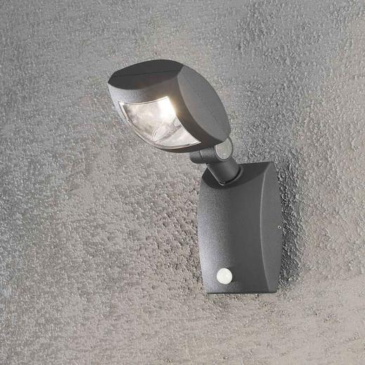 Latina Anthracite Grey Aluminium Sensor LED Wall Light