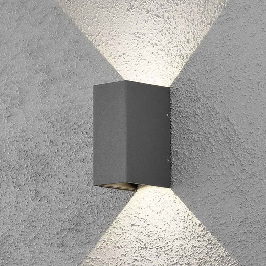 Cremona 2 Light Grey Aluminium LED Wall Light