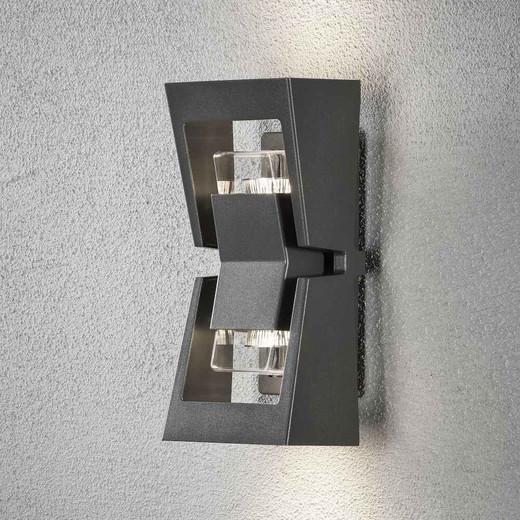 Potenza Anthracite Grey Aluminium LED Wall Light