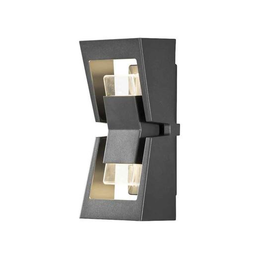 Potenza 2 Light Anthracite Grey Aluminium LED Wall Light