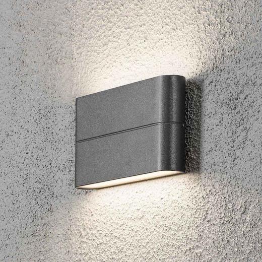 Chieri 2x6W Light Anthracite Grey Aluminium LED Wall Lamp