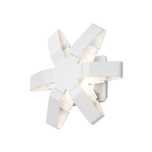Pescara White Aluminium Star LED Wall Light
