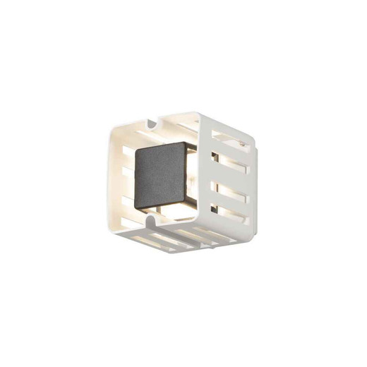 Pescara Square White Aluminium LED Wall Light