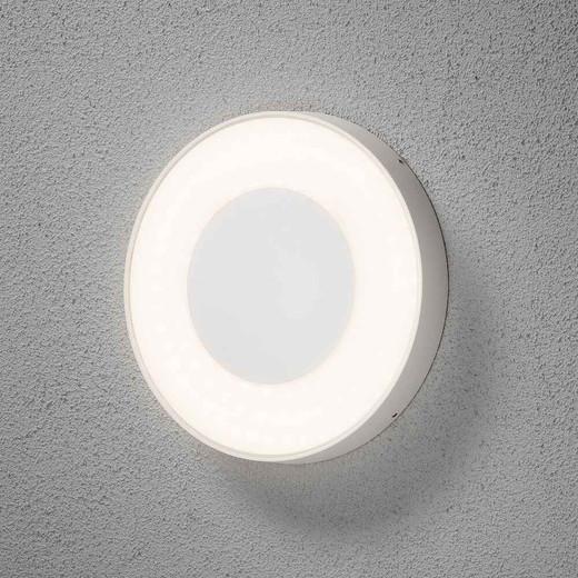 Carrara Round Dim to Warm White Aluminium LED Wall Light