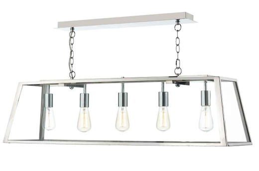Academy 5 Light Stainless Steel Bar Pendant Light