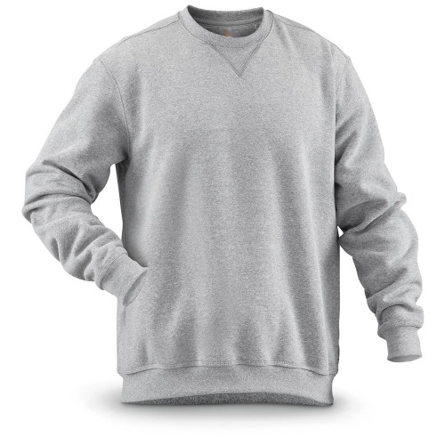 Cotton Works Heather Gray Crew Neck Sweatshirt, 3X