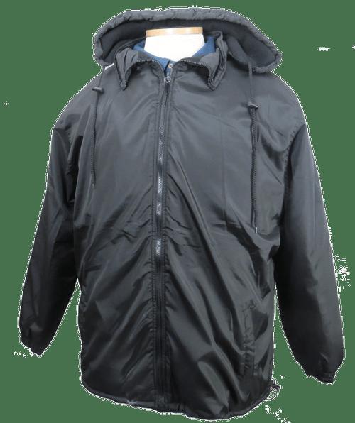 Falcon Bay Black Water Repellent Hooded Winter Jacket 2XT, 3XT