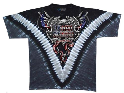 Liquid Blue Lynyrd Skynyrd Southern Rock Shield Tie Dye Tee 3X, 4X