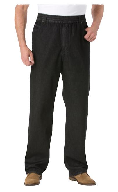 King Size Full Elastic Black Denim Jeans XL, 2X, 3X