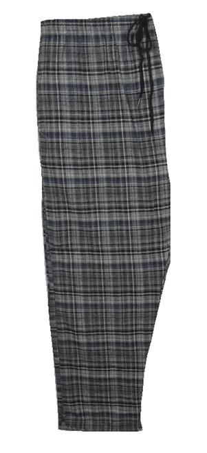 Retreat Black & White Plaid Flannel Lounge Pants 2X, 3X