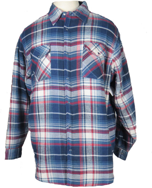 King Size Snap-Front Quilted Flannel 3 Colors XL, 2X, 3X