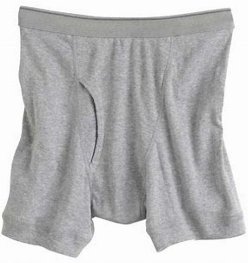 Players Mid Length Brief Gray