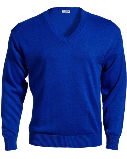 Edwards Royal Blue V-Neck Sweater 2X, 3X, 4X, 5X