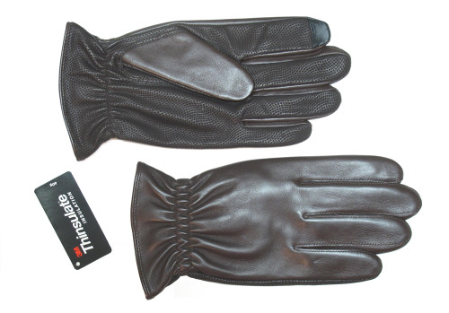 Lauer Sheepskin Leather Gloves with Digital Palm, Black or Brown 3X, 4X
