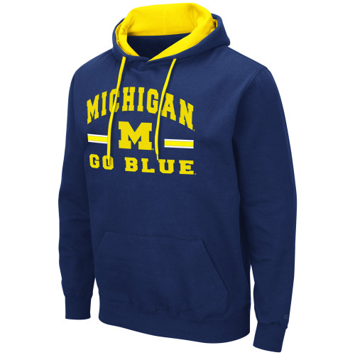 Colosseum University of Michigan Embroidered Hoodie XLT, 2XT, 3X, 3XT, 4X