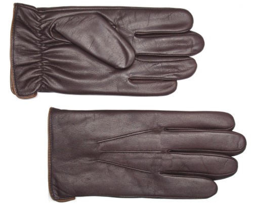 Lauer Fine Goatskin Leather Faux Fur Lined Gloves Black or Brown L, 4X