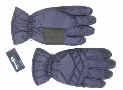 Lauer Nylon Ski Gloves, Navy
