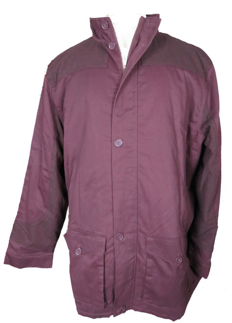 King Size Button Front Car Coat with Fleece and Polyfill Lining 4XT