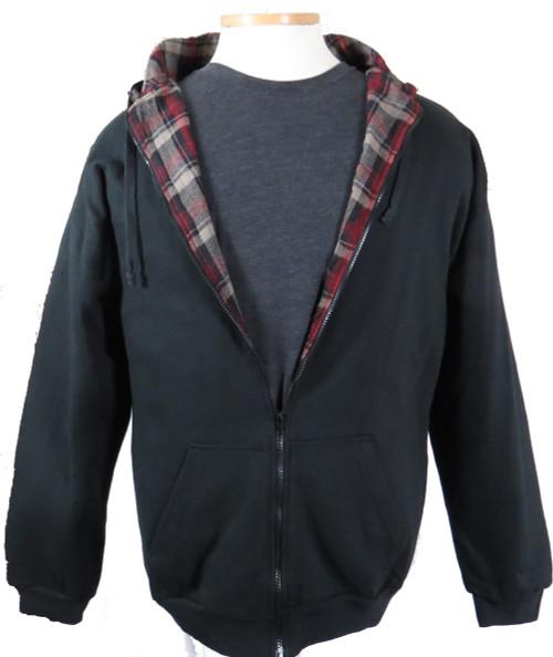 Falcon Bay Black  Flannel Lined Hoodie LT