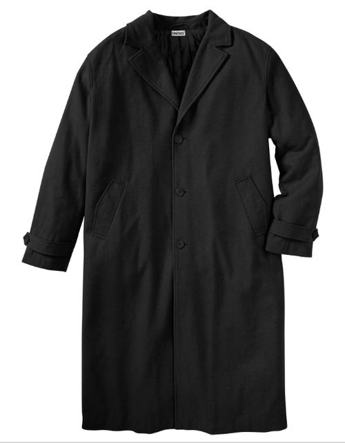 King Size Wool Blend Long Overcoat LT, XLT, 2X, 3X, 3XT, 4X, 5X, 5XT, 6X